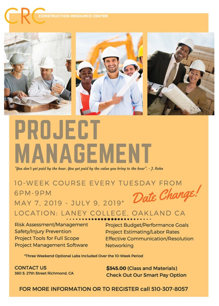 10 Week Project Management Course Wk5 Construction Resource Center