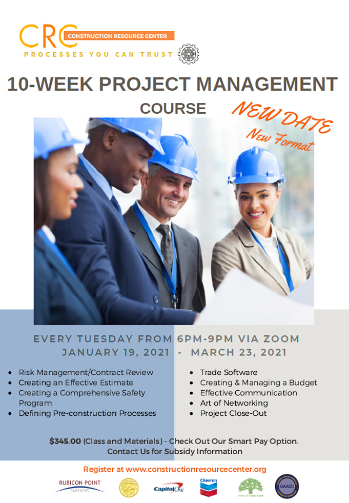 10-week Project Management Course (4Q)